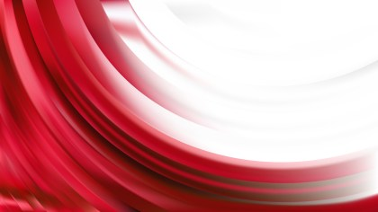 Red and White Abstract Wave Background Graphic