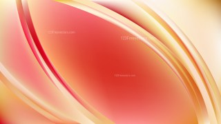 Abstract Red and Yellow Shiny Wave Background Illustrator