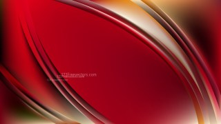 Abstract Red and Yellow Wave Background