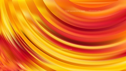 Red and Yellow Abstract Curve Background Design