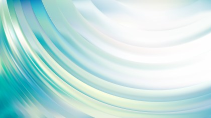 Abstract Turquoise and White Wavy Background