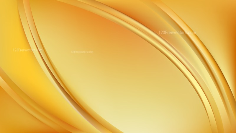 Yellow Abstract Wave Background Vector Art