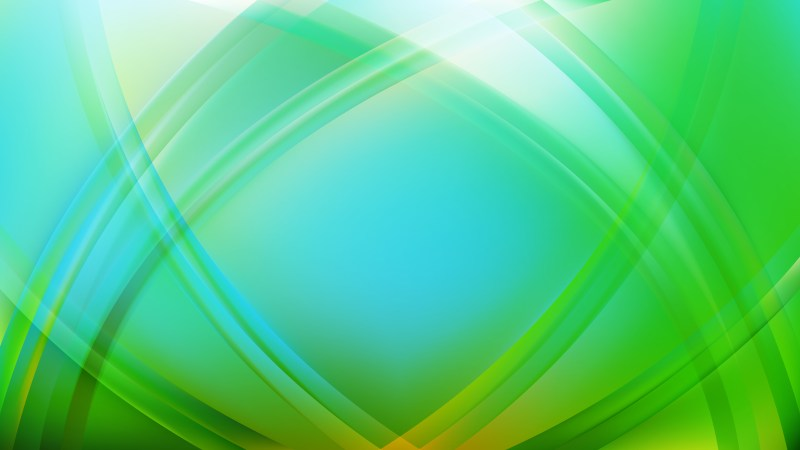 Abstract Blue and Green Curved Background Vector Illustration