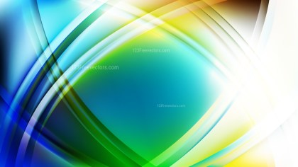 Abstract Blue and Green Curved Lines Background Vector