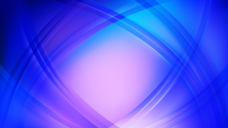 Abstract Blue and Purple Waves Curved Lines Background Vector Art