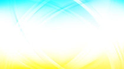 Blue and Yellow Waves Curved Lines Background Vector Illustration
