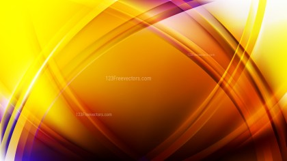 Abstract Blue and Yellow Curve Background