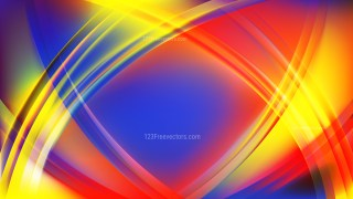 Abstract Colorful Waves Curved Lines Background Vector Image