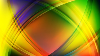 Colorful Curved Lines Background
