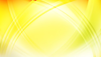 Abstract Light Yellow Waves Curved Lines Background Vector Illustration