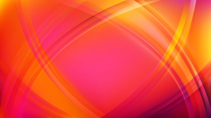 Abstract Pink and Yellow Curve Background