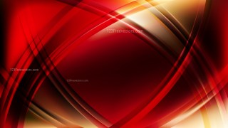 Red and Yellow Waves Curved Lines Background Vector Illustration