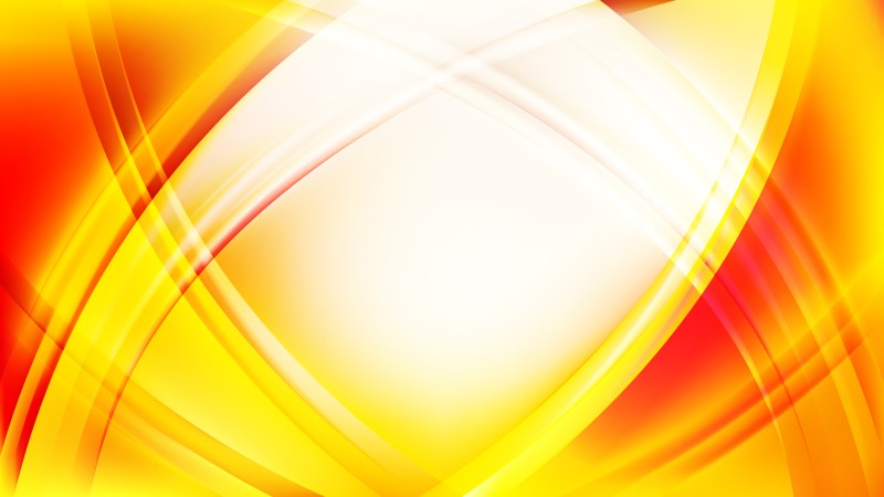 Abstract Red and Yellow Curved Lines Background