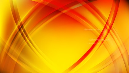 Abstract Red and Yellow Waves Curved Lines Background