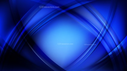 Abstract Royal Blue Curve Background Design