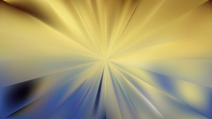 Abstract Blue and Gold Radial Stripes Background