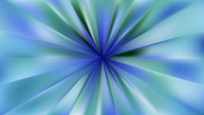Blue and Green Radial Burst Background