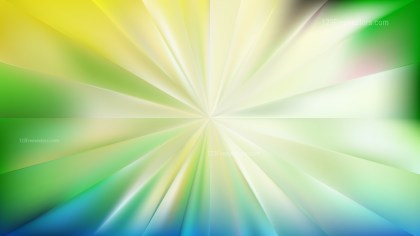 Abstract Blue and Green Radial Sunburst Background