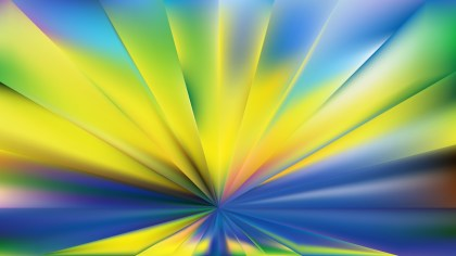 Abstract Blue and Yellow Burst Background Image