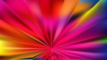 Abstract Colorful Radial Stripes Background Vector Illustration