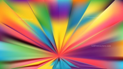 Abstract Colorful Rays Background Vector Graphic