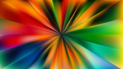 Colorful Radial Sunburst Background Illustration