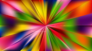 Abstract Colorful Radial Burst Background Vector