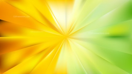 Abstract Green and Yellow Sunburst Background