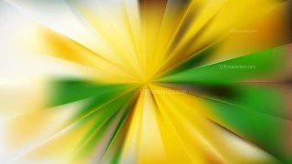 Abstract Green and Yellow Radial Background Vector Graphic