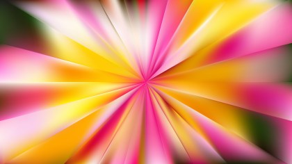 Pink and Yellow Sunburst Background Vector Illustration