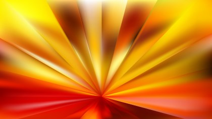 Abstract Red and Yellow Radial Background Vector Image