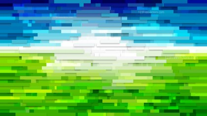 Blue and Green Horizontal Lines and Stripes Background