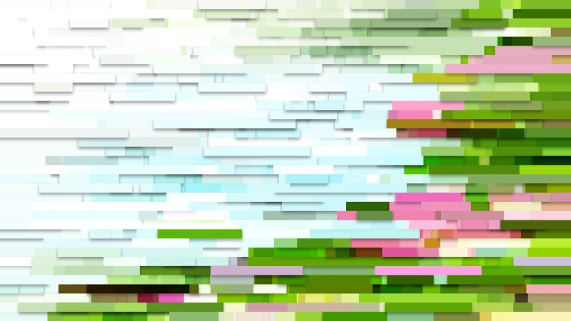 Abstract Pink and Green Horizontal Lines and Stripes Background Vector Illustration
