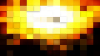 Abstract Black and Gold Square Mosaic Background