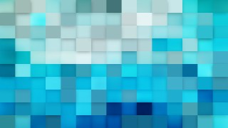 Abstract Blue Square Mosaic Tile Background