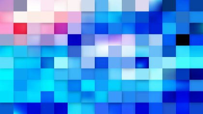Abstract Blue Geometric Mosaic Square Background