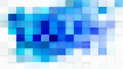 Blue and White Square Mosaic Background Illustrator