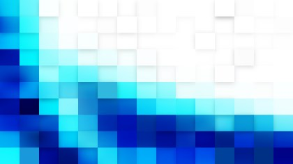 Blue and White Geometric Mosaic Square Background Vector