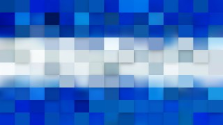 Abstract Blue and White Square Mosaic Background Graphic