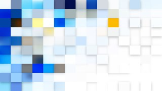 Abstract Blue and White Geometric Mosaic Square Background Design