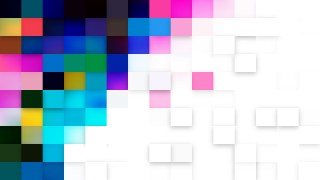 Abstract Blue and White Square Pixel Mosaic Background Image