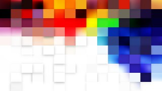 Colorful Geometric Mosaic Square Background