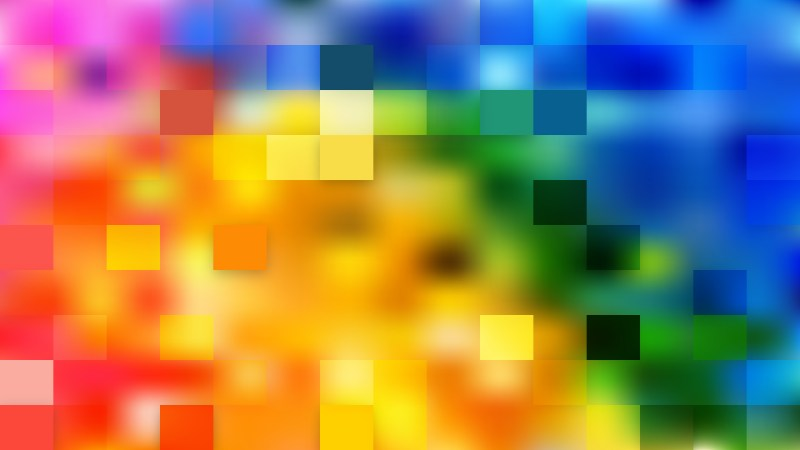 Abstract Colorful Square Mosaic Tile Background