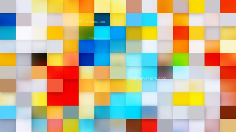 Abstract Colorful Geometric Mosaic Square Background