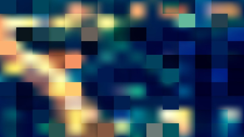 Abstract Dark Color Square Pixel Mosaic Background