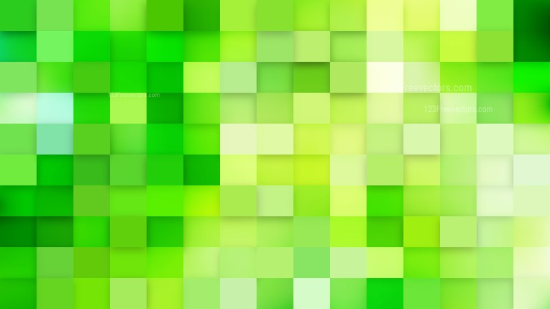 Green Square Mosaic Tile Background Image