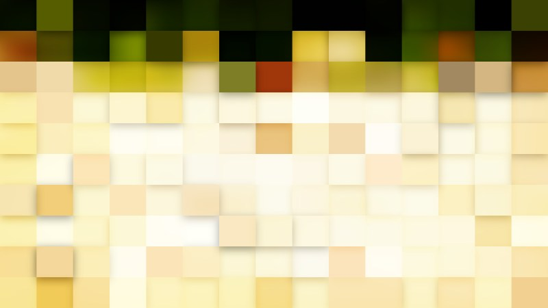 Green and Beige Square Pixel Mosaic Background Vector Image
