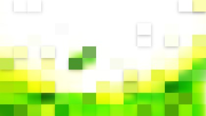 Abstract Green and White Square Pixel Mosaic Background Vector Art