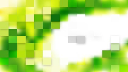 Green and White Square Mosaic Background