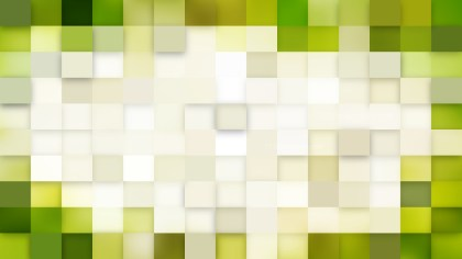 Green and White Square Mosaic Tile Background